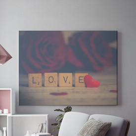 Tablou Canvas Love Scrabble