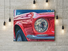 Tablou Canvas Masina rosie de epoca