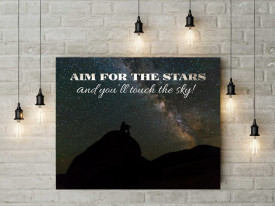 Tablou canvas motivational - Aim for the Stars