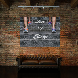 TABLOU MOTIVATIONAL - STEP BY STEP