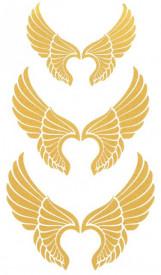 Tatuaj temporar -aripi aurii- 17x10cm