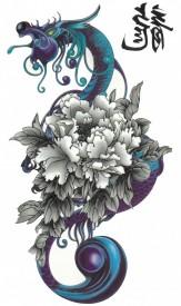 Tatuaj temporar -blue dragon- 17x10cm