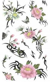 Tatuaj temporar -flori- 10x17cm