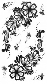Tatuaj temporar -flori punctate- 10x17cm