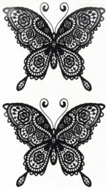 Tatuaj temporar -fluturi dantelati- 17x10cm
