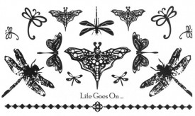 Tatuaj temporar -Life Goes On- 17x10cm