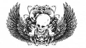 Tatuaj temporar -skull- 10x17cm