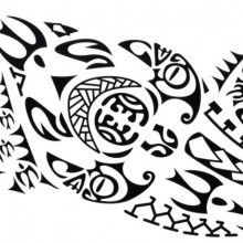 Tatuaj temporar -tribal- 15x40cm