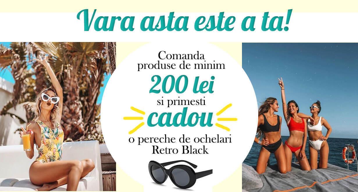 Oferte costume de baie, cardigane de plaja, accesorii de plaja, palarii de soare
