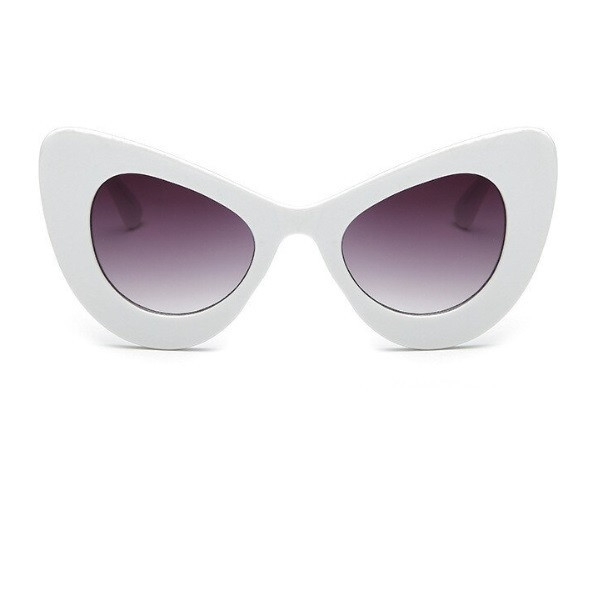 Ochelari de soare albi Peak Cat Eye retro
