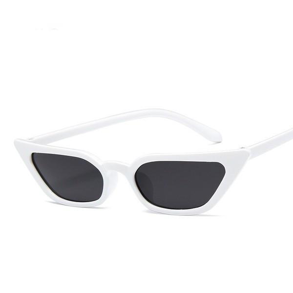 Ochelari de soare Vintage Cats Eye White