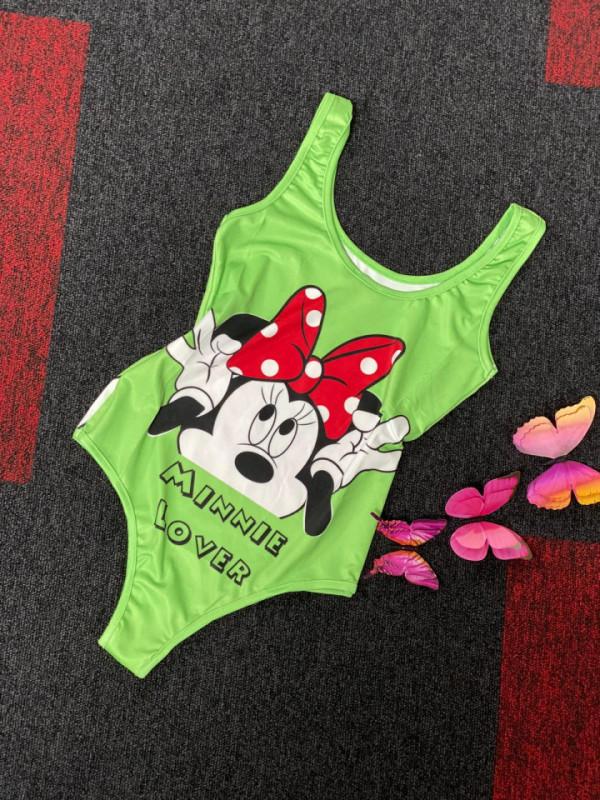 Body - costum de baie LYS Minnie verde