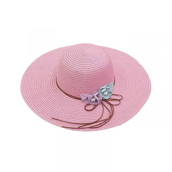 Palarie de plaja pentru femei Charlotte roz pal
