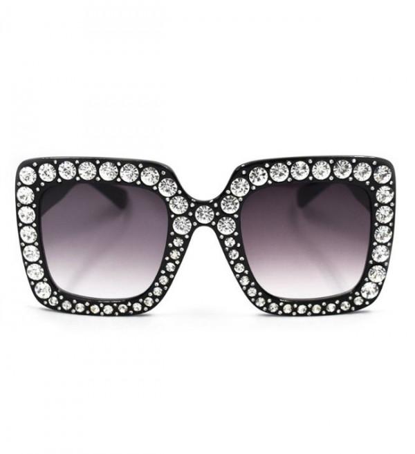 Ochelari de soare Luxury Black cu pietricele aplicate