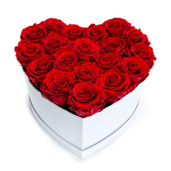 Aranjament floral inima cu trandafiri de sapun Special S