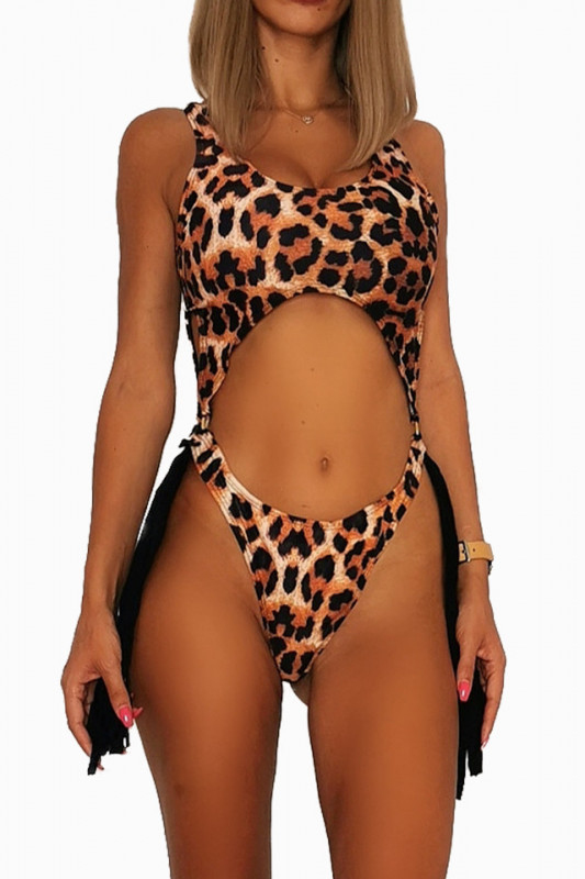 Costum de baie intreg Crazy leopard