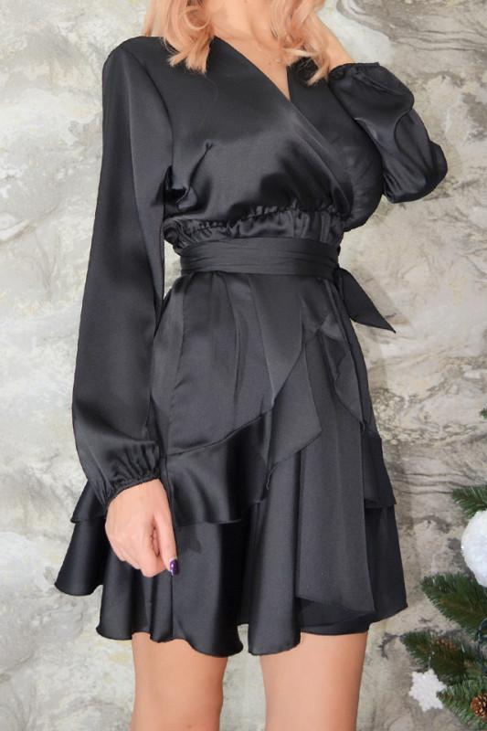 Rochie cu volane Lolita, neagra