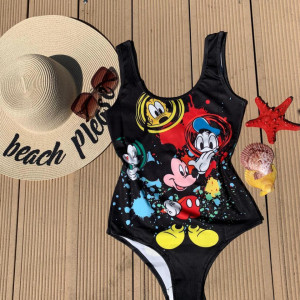 Body - costum de baie LYS Black Mickey