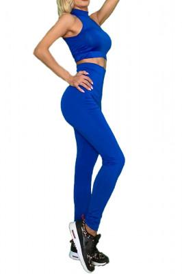 Compleu Fitness Vanesa din doua piese albastru