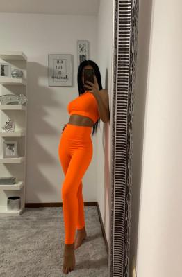 Compleu Fitness Vanesa din doua piese orange