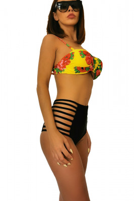 Costum de baie cu slip talie inalta Assuro Paradis
