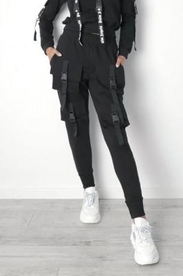 Pantaloni sport Intuition cu buzunare, black