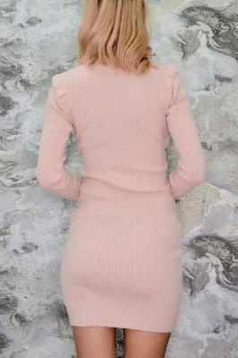 Rochie din tricot Alice, powder