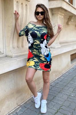 Rochie tricou lung Minie-Donnie army