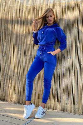 Trening de catifea Vegas albastru