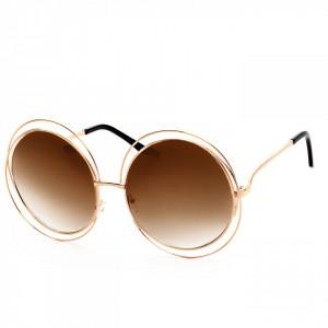 Ochelari de soare rotunzi Beea Brown Gold