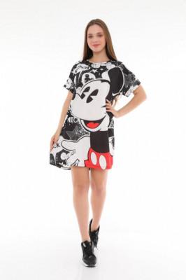 Rochie tip tricou cu imprimeu grafic Anya Mickey