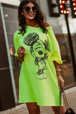 Rochie tricou lung Mickey