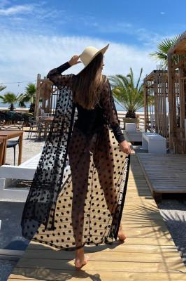 Cardigan de plaja Julieta negru
