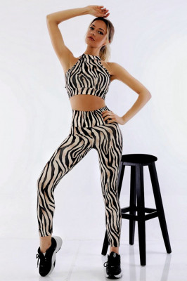 Compleu Fitness Ashley din doua piese Sahara