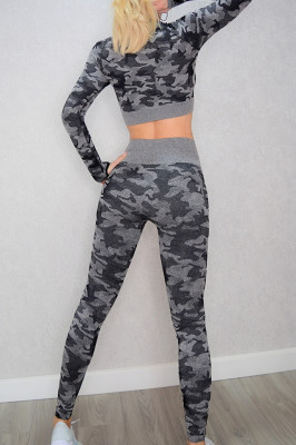 Compleu Fitness Wish army gri