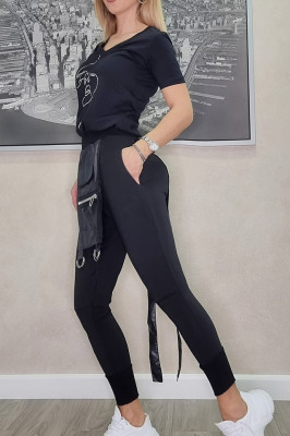 Compleu Joseph pantaloni si tricou negru
