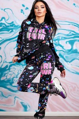 Compleu sport Iasmina black-pink