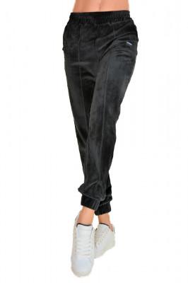 Pantaloni sport Malaki din catifea, negri