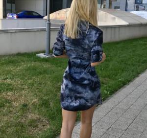 Rochie tip camasa cu accesorii metalice si cordon in talie Julie, army