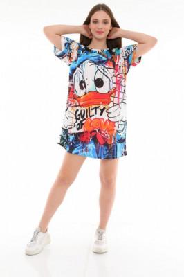 Rochie tip tricou cu imprimeu grafic Anya Guilty