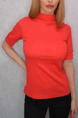 Bluza cu maneca trei sfert Despina rosu