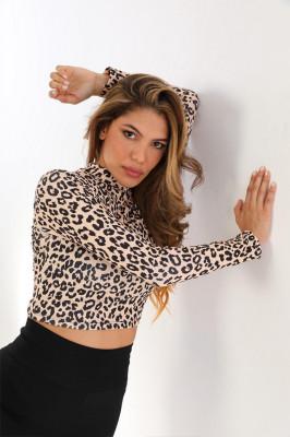 Bluza scurta Bella ghepard