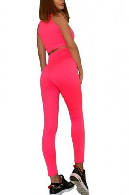 Compleu Fitness Vanesa din doua piese pink