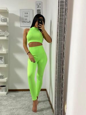 Compleu Fitness Vanesa din doua piese verde
