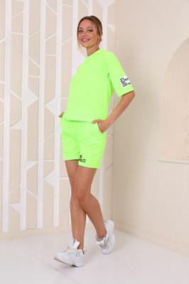Compleu Mirra tricou si pantaloni scurti verde