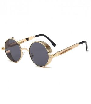 Ochelari de soare Vanity Black Gold model rotund unisex