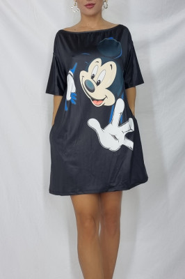 Rochie tricou lung Mickey mouse