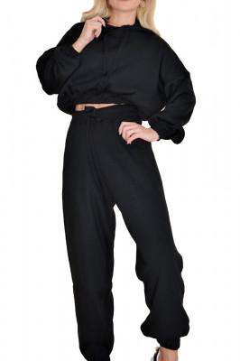 Compleu tricotat Marriott doua piese, negru