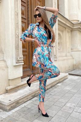Costum dama Lorena Tropical pantaloni si sacou