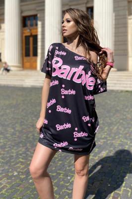 Rochie tricou lung Barbie neagra